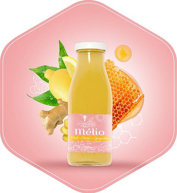 Melio boisson citron gingembre