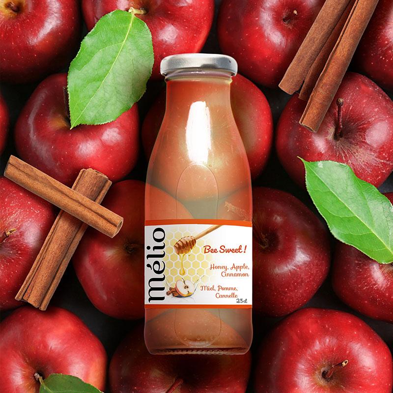 Melio Miel, pommes, cannelle